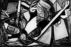 Find The Lady (bill_giddings) Tags: blackandwhite original modernfineart figurepainting oilpaint oncanvas geometricstyle cubism artdeco surrealism artnouveau impressionist postimpressionist modernart abstract perspective space illustration illumination shadows lightanddark nikon