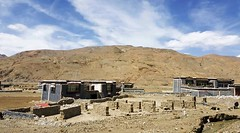 Village in Sakya Region 2 (joeng) Tags: tibet sakya landscape mountain sky clouds places building