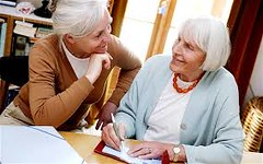 Three Great Ladies, All in their Eighties (barbaralaurion) Tags: elderly goldenyears inspiring ladies
