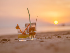 Summerdrink (camerue) Tags: sunset drink borkum pastell creamy bokeh depthoffield sea northsea