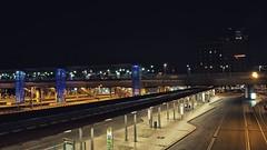 Freiburg Trainstation (Seupho) Tags: train station bahnhof freiburg city night exporsure long time blue cars bus autmn