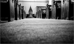 Church of St Mary the Virgin . (wayman2011) Tags: fujifilmx70 lightroom wayman2011 bw mono religeousbuildings churches fonts pews pennines dales teesdale middletoninteesdale countydurham uk
