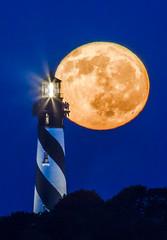 Lighthouse, mooncrflph2- (Gene Powell) Tags: lighthouses saintaugustine florida moon moonrise