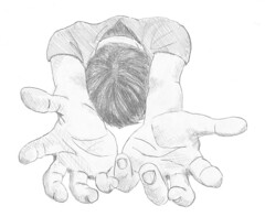 Kneeling (augustinecollective) Tags: kneeling prayer praying pray beg begging hand hands christian christianity drawing