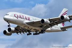 [CDG] Qatar Airways Airbus A380 (Timothe Savour) Tags: a7apd qatar airways airbus a380