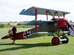 Fokker triplane (ramridgedave) Tags: shuttleworth collection edwardian warden old bedfordshire beds airshow 2016 july military pageant