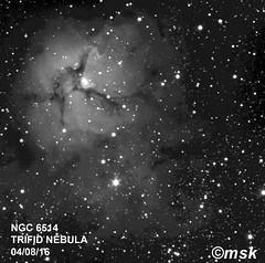 M20 the trifid nebula (mikeskunz1) Tags: m20 trifidnebula bw astrophotography