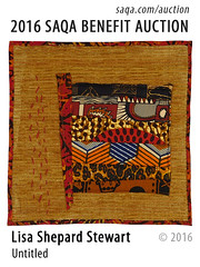Untitled by Lisa Shepard Stewart (saqaart) Tags: artquilts saqa fiberart quilts textiles artwork stitched layered