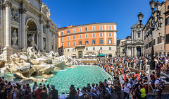 Trevi Fountain, Rome (mandar_haridas) Tags: trevifountain trevi fountain coins rome italy vatican vaticancity europe hot july summer 2016 people crowd crowded