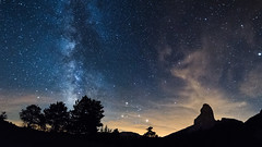 Lost in Galaxy #II (Dream Rebellion) Tags: milky way night sky stars nightscape paysage nuit toile mont aiguille vercors arbre tree mountain cloud voie lacte ciel wide forest dark nature natural