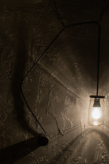 Light of the darkness (avionce_91) Tags: light jar wall dark room gray cable vintage wallpaper bulb picture pictureofnight color monochrome nikon
