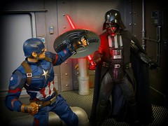 """""""The Force is strong in this one"""" (MiskatonicNick) Tags: hottoys captainamerica civilwar starwars darthvader diorama playscale actionfigures 16 sixthscale"""