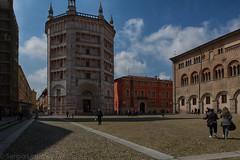 Parma, il battistero (Sergio_MI) Tags: shadow people italy man architecture square ombre uomo parma piazza battistero architettura baptistery