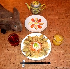 Seara (sea rabbit). Photograph by Dr. Takeshi Yamada. 20120422 032 Tuna & Carrot Salad Spa. Baked Potato. Sliced Tomato & Apple. OJ BT (diningwithsearabbits02) Tags: food ny newyork sexy celebrity art hat fashion animal brooklyn painting asian coneyisland japanese star costume tv google king artist dragon god cosplay manhattan wildlife famous gothic goth performance pop taxidermy cnn tuxedo bikini tophat unitednations playboy entertainer takeshi samurai genius mermaid amc johnnydepp mardigras salvadordali unicorn billclinton billgates aol vangogh curiosities sideshow jeffkoons globalwarming takashimurakami pablopicasso steampunk yamada damienhirst cryptozoology freakshow barackobama seara immortalized takeshiyamada museumofworldwonders roguetaxidermy searabbit ladygaga climategate minnesotaassociationofroguetaxidermists