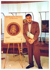 1989 Miami (Florida - USA) - Carlo Serafini alla mostra di copie di mosaici antichi