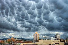 Mammatus Cloud Formations Roanoke Va Weather (Terry Aldhizer) Tags: city sky cloud storm mountains weather clouds buildings spring big bubbles stormy formation roanoke valley terry mammatus cloudsstormssunsetssunrises aldhizer terryaldhizercom