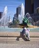 Climbing in the fountain