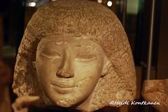 Statue head (konde) Tags: sculpture statue limestone museo ancientegypt newkingdom