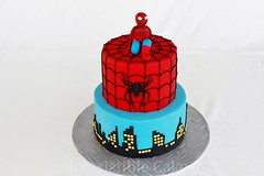 Spiderman (Irresistible Cakes) Tags: birthday cake spiderman superhero fondant