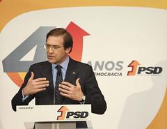Pedro Passos Coelho na comemoração do aniversário do partido, Distrital de Leiria