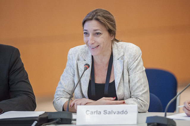 Carla Salvado taking part in the session