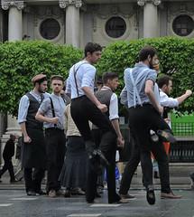 les mecs aux claquettes (doubichlou) Tags: street ireland dublin men beautiful town dance europe danse eire capitale rue ville hommes irlande