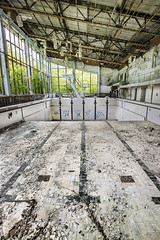 Dive straight in, Pripyat (Sean Hartwell Photography) Tags: urban abandoned pool architecture swimming accident decay empty radiation nuclear ukraine disaster radioactive armageddon sovietunion crumbling lanes fallout chernobyl urbex postapocalyptic endoftimes pripyat afterpeople