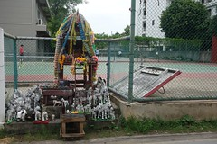 zebras and tennis courts (the foreign photographer - ) Tags: thailand army shrine bangkok sony tennis installation zebra courts bangkhen rx100 dscjul102016sony