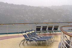 Jacket Required! (Kev Gregory (General)) Tags: approaching oslo inner fjord wet day sightseeing norwegian capital downpour torrential rain cascade stormy thunder storm kev gregory canon 7d baltic cruise royal caribbean navigator of the seas europe