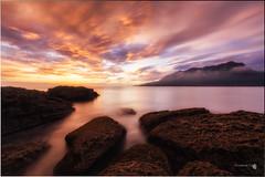 Amanece (Caramad) Tags: mar landscape cerredo monte marcantbrico light agua longexposure luz amanecer wate marina cantabria sunrise wave sea seascape rocks rocas espaa olas