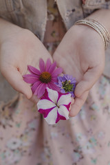 IMG_8800-2 (TheFreckledFrenzy) Tags: flowers teen punk pastel goth hipster modern portrait dof bouquet purple pink pastels