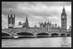 London - House of Cards BW (mariogdb) Tags: london londres hdr parlamento bigben reloj clock bw blanconegro blackwhite monochrome monocromo