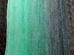 Lace Chickadee Cowl (effika) Tags: wool knitting nylon grey green mint gradient variegated cowl yarn laceweight linenstitch