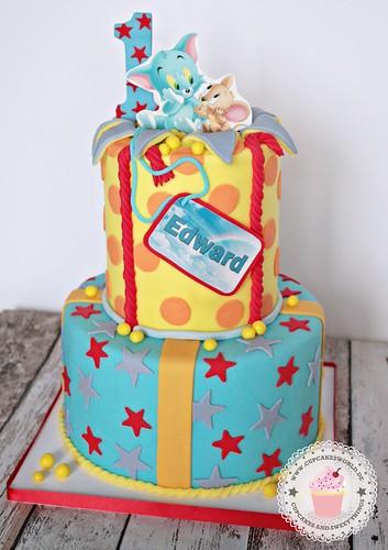 Enjoyable Tom And Jerry Birthday Cake A Photo On Flickriver Personalised Birthday Cards Veneteletsinfo