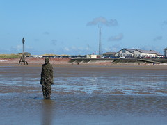DSCF0689 (SierPinskiA) Tags: sea shells beach liverpool sand ironman pools barnacles ironwork mayday seashore merseyside anthonygormley irishsea 2016 anotherplace crosbybeach blundellsands fujixs1