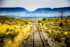 Leaving Home (GlennPope) Tags: mountainside morning landscape traintracks utilitypole tracks railway daytime outdoors cumbrestoltec mountain antonito colorado unitedstates us