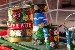Painted kettles (Rodger Shearer) Tags: canal leeds boats paint kettles painting stillife colours
