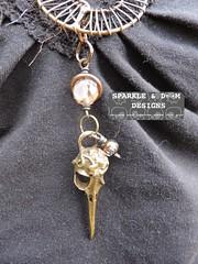 Steampunk Necklace 02c (zreekee) Tags: canada vintage goth jewelry thrift saskatchewan beadwork steampunk wirework sparkledoomdesigns