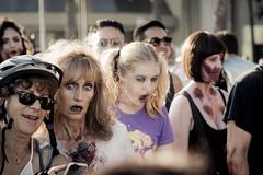 Selfie with a Zombie (maida0922) Tags: em1 mzuiko40150mmf28pro california sandiego downtown comiccon 2016 zombiewalk zombie cosplay walking people crowds holiday