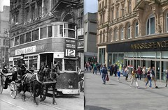 Church Street, 1943 and 2016 (Keithjones84) Tags: liverpool oldliverpool merseyside thenandnow architecture history rephotography