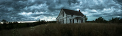 Sundial House Storm (Rodney Harvey) Tags: abandoned house missouri hdr pano rural decay country summer wind