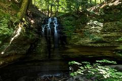 Visitors At Tannery Falls (Robert F. Carter Travels) Tags: stock stockimages stockphotos stockphotographs tanneryfalls picturedrocksnationallakeshore munising michigan nationalparks falls