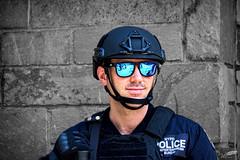 The HERO.. (wessoufi) Tags: policeman policeofficer cop hero protector american newyork blue glasses usa america man beautiful newyorker