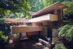 Fallingwater (Sarah A Janes) Tags: architecture franklloydwright fallingwater canon 1635mm pennsylvania millrun structure