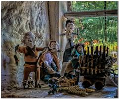 Rat catcher to the rescue (Hugh Stanton) Tags: window rat figures dolls story cottage