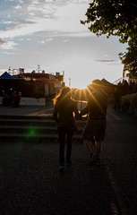 Strolling at Victoria island, British Columbia (vicki.photo@yahoo.com.sg) Tags: love couple 夕陽 加拿大 維多利亞 徠卡 萊卡 victoriaisland britishcolumbia cruise canada leica m leicam landscape scenicview sunset