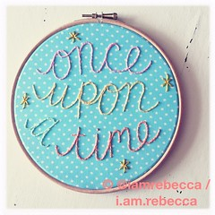 (i.am.rebecca) Tags: delicate pastel embroidery polkadot fabric hoop threads doc stitched handstitched handsewn handembroidered disney dream fairytale onceuponatime type handtype handwritten typographic typography