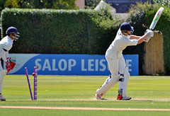Out (The Snige) Tags: cricket wicket bowled out ball stumps action shrewsbury sport ombersley
