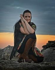Lizzie (Clandrew) Tags: clandrew elizabethmiller model portland dorset portlandbill sky portrait location colour