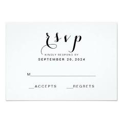 (Simple Elegant Script | Modern Wedding RSVP Card) #BlackAndWhite, #Elegant, #ElegantWedding, #Handwriting, #Modern, #PlainWedding, #Rsvp, #Simple, #SimpleWedding, #SimpleWeddingResponse, #Wedding is available on Custom Unique Wedding Invitations store ht (CustomWeddingInvitations) Tags: simple elegant script | modern wedding rsvp card blackandwhite elegantwedding handwriting plainwedding simplewedding simpleweddingresponse is available custom unique invitations store httpcustomweddinginvitationsringscakegownsanniversaryreceptionflowersgiftdressesshoesclothingaccessoriesinvitationsbinauralbeatsbrainwaveentrainmentcomsimpleelegantscriptmodernweddingrsvpcard weddinginvitation weddinginvitations